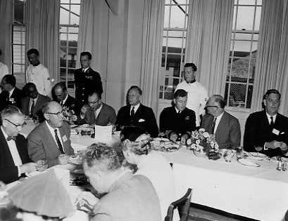 BTMPhavingdinnerinthewardroom1958